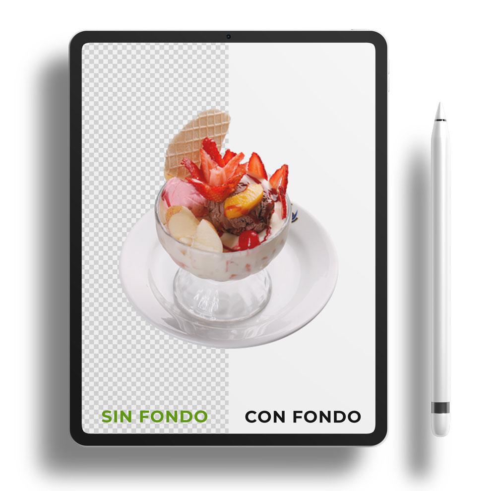 Fotografia de productos sin/con fondo